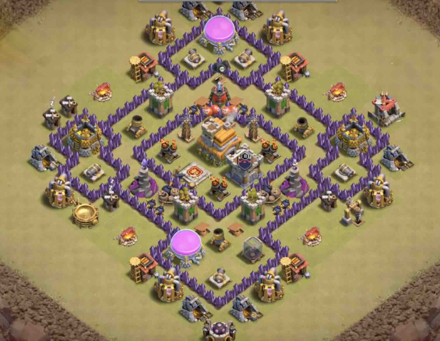The Best Th7 War Base As Of Today Coc Stars