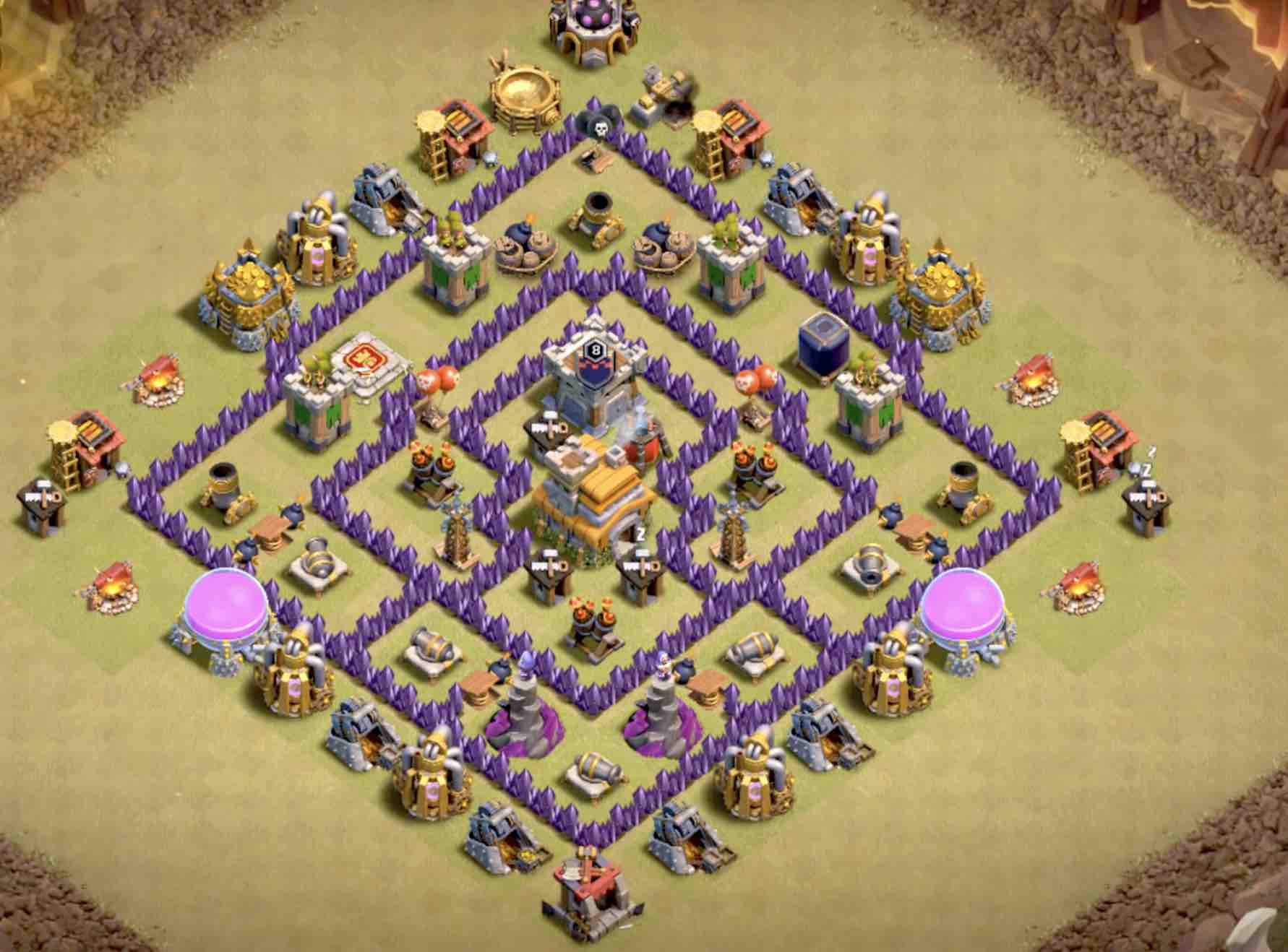 The Best TH7 War Base as of TODAY! – CoC Stars